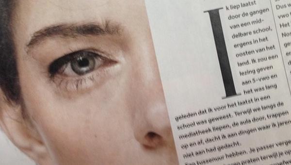 een foto van het artikel in Volskrant Magazine